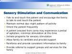 sensory stimulation and communication