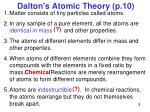 dalton s atomic theory p 10