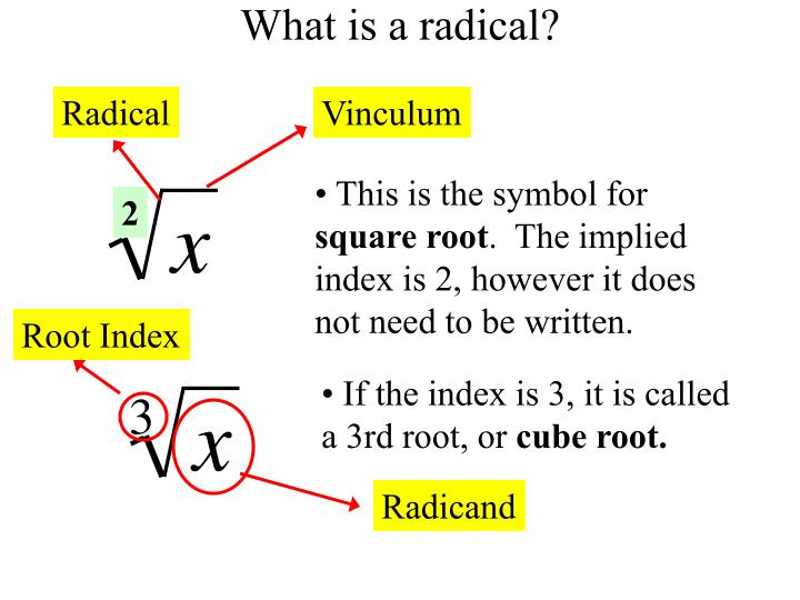 Ppt Radical Expressions Powerpoint Presentation Id5582007