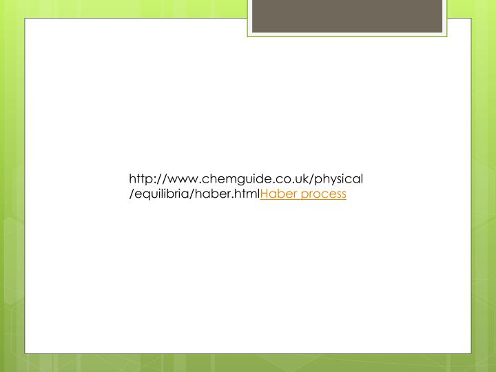 http://www.chemguide.co.uk/physical/equilibria/haber.html