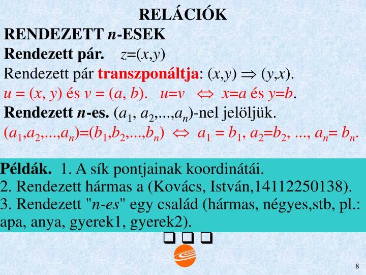 RELÁCIÓK