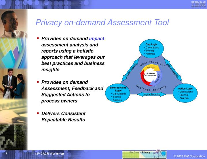 Privacy on-demand Assessment Tool