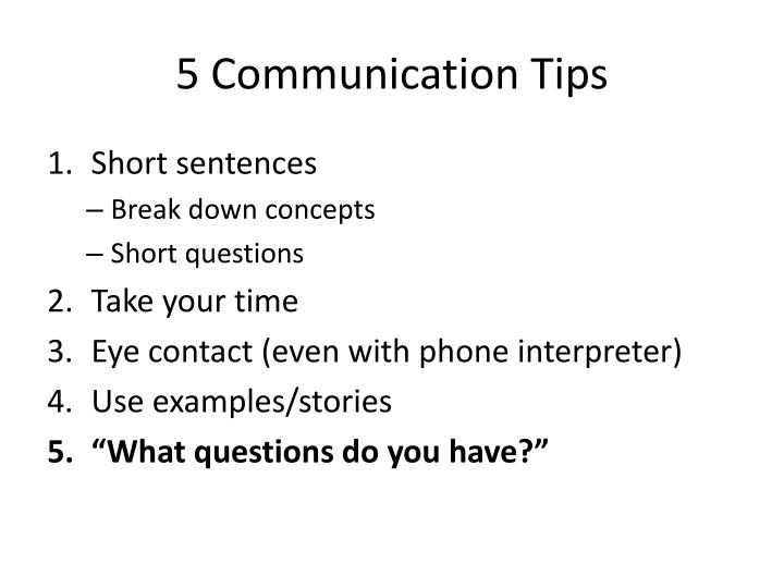 5 Communication