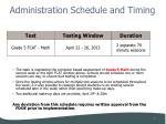 administration schedule and timing