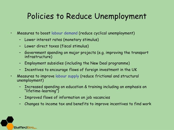 reducing unemployment