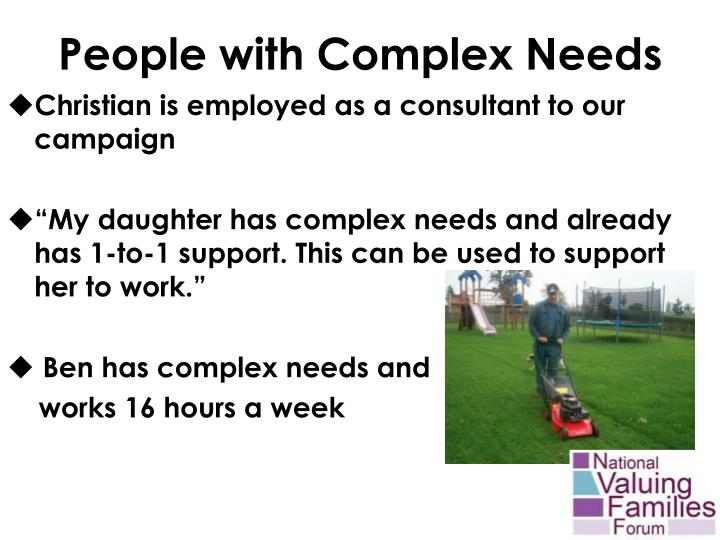 People with Complex Needs