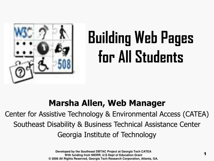 building web pages for all students n.