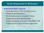 income requirement for retirement1