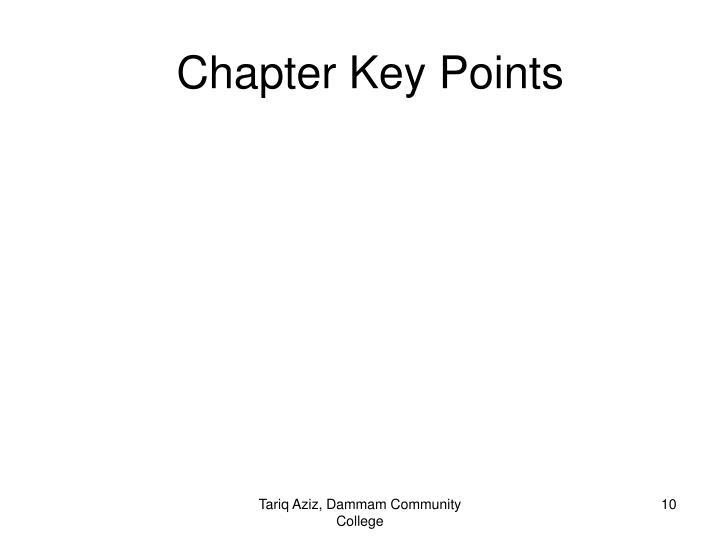 Chapter Key Points