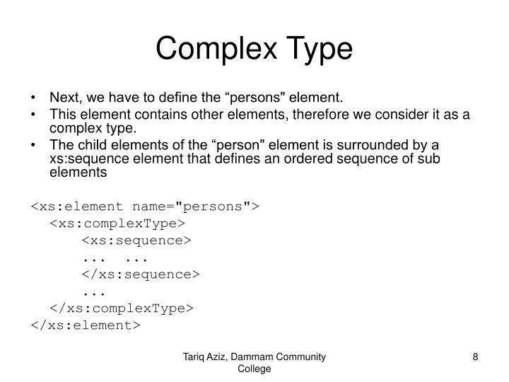 Complex Type