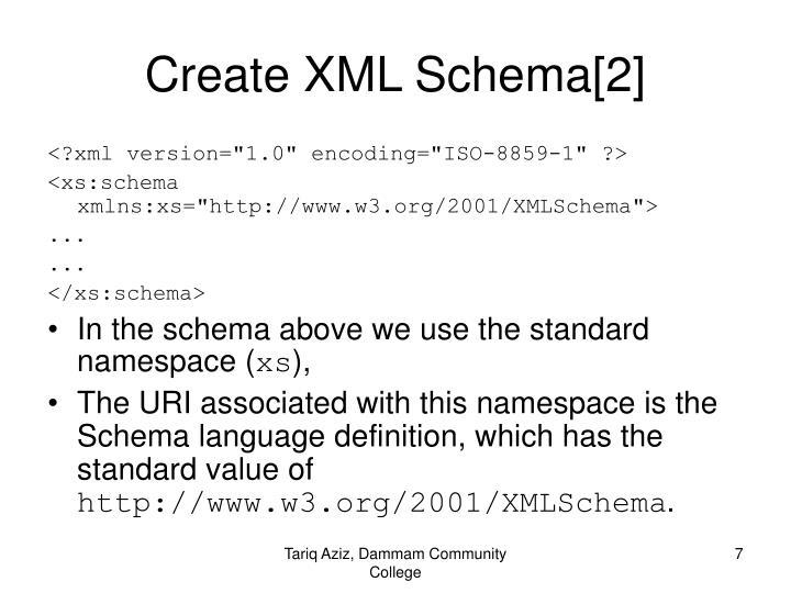 Create XML Schema[2]