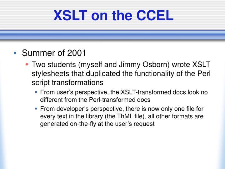 XSLT on the CCEL