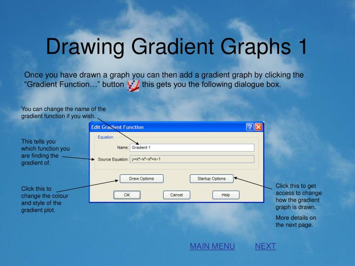 Drawing Gradient Graphs 1