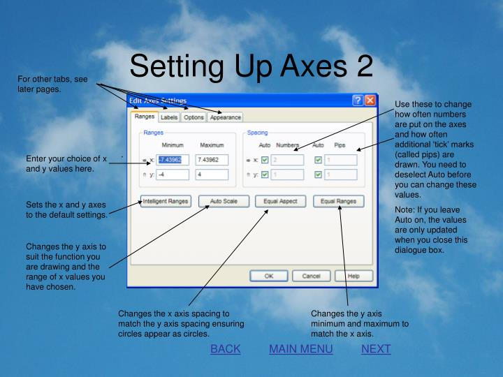 Setting Up Axes 2