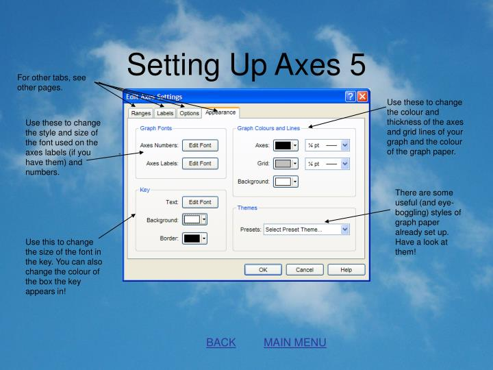 Setting Up Axes 5