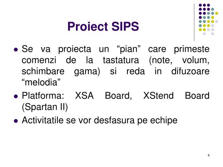 Proiect SIPS