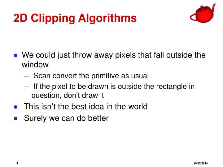 2D Clipping Algorithms