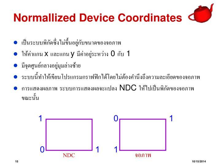 Normallized Device Coordinates