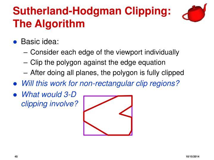Sutherland-Hodgman Clipping: