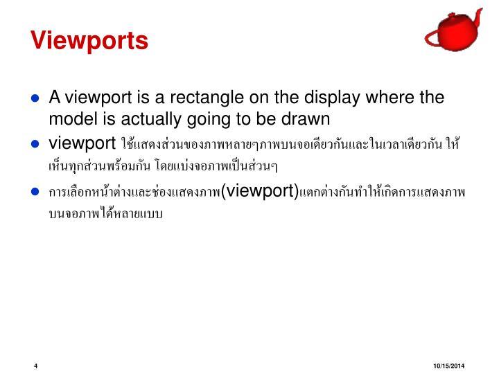 Viewports