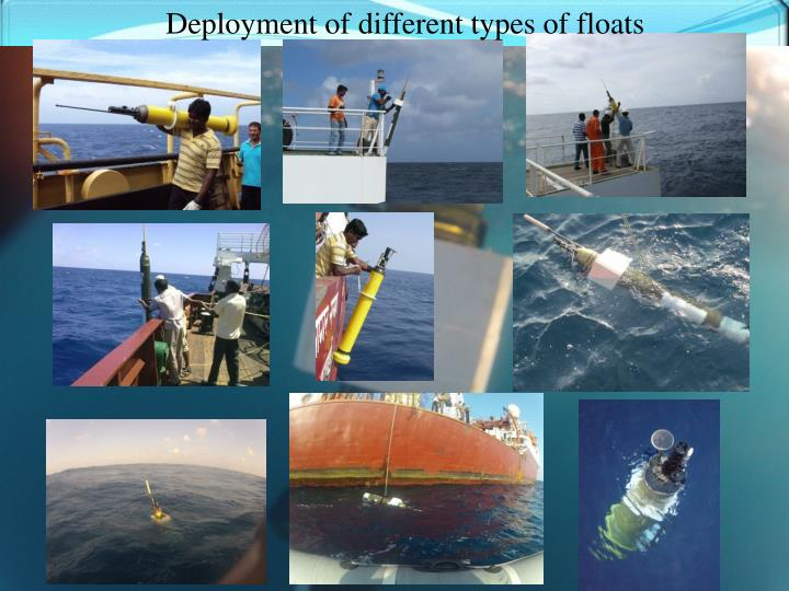 Deployment of different types of floats