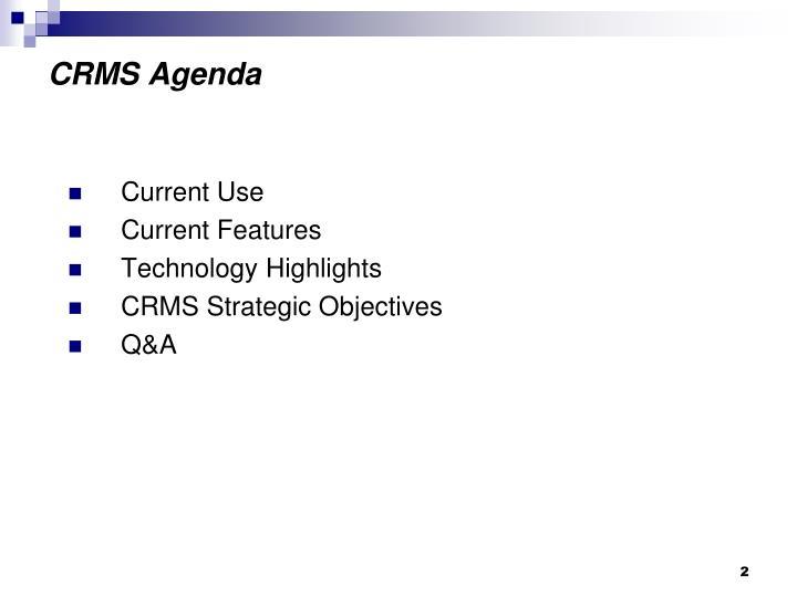 Crms agenda