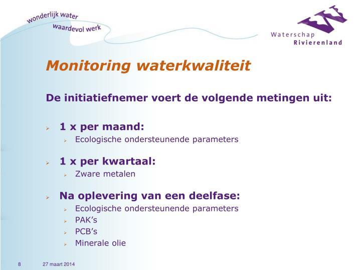 Monitoring waterkwaliteit