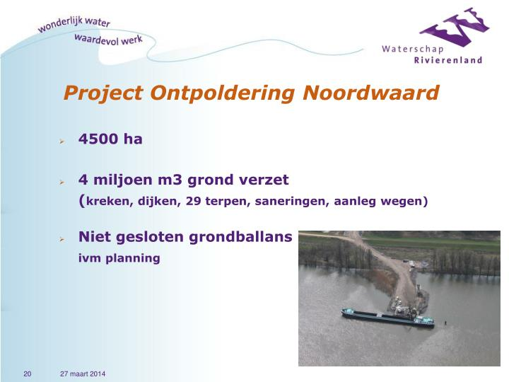 Project Ontpoldering Noordwaard