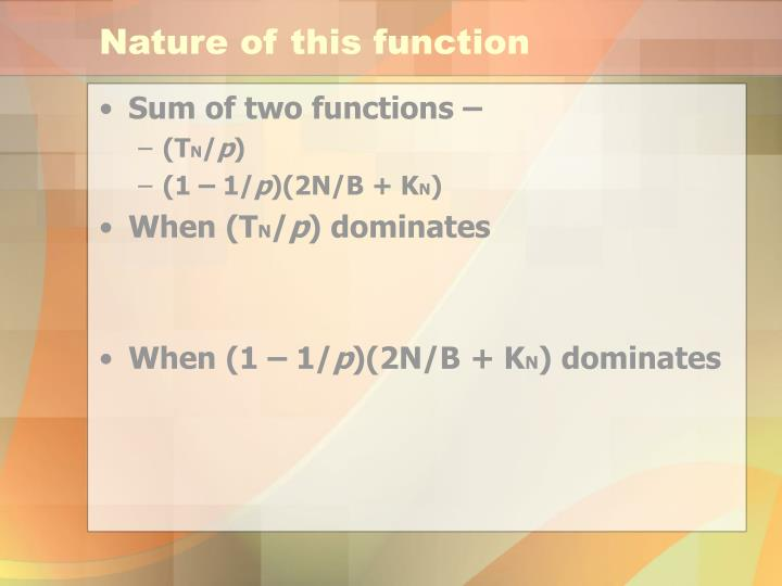 Nature of this function