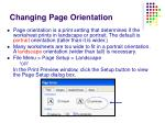 changing page orientation