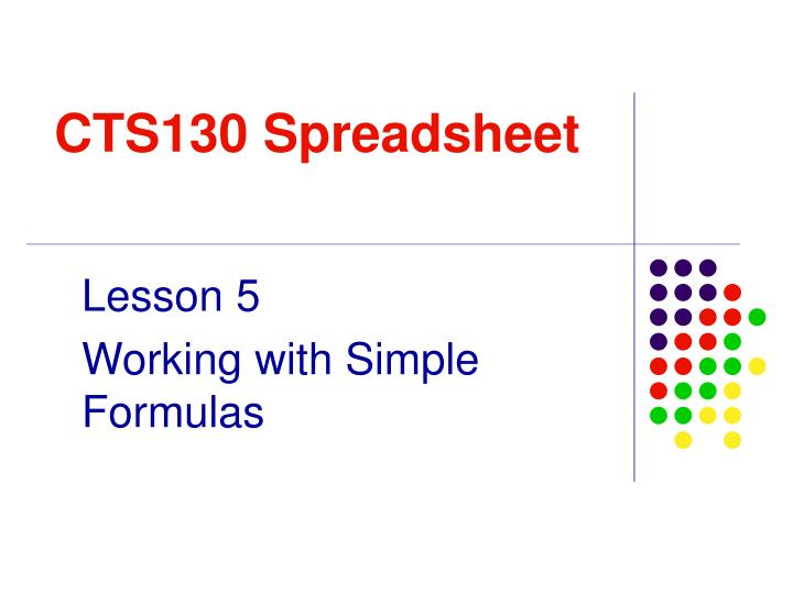 cts130 spreadsheet n.