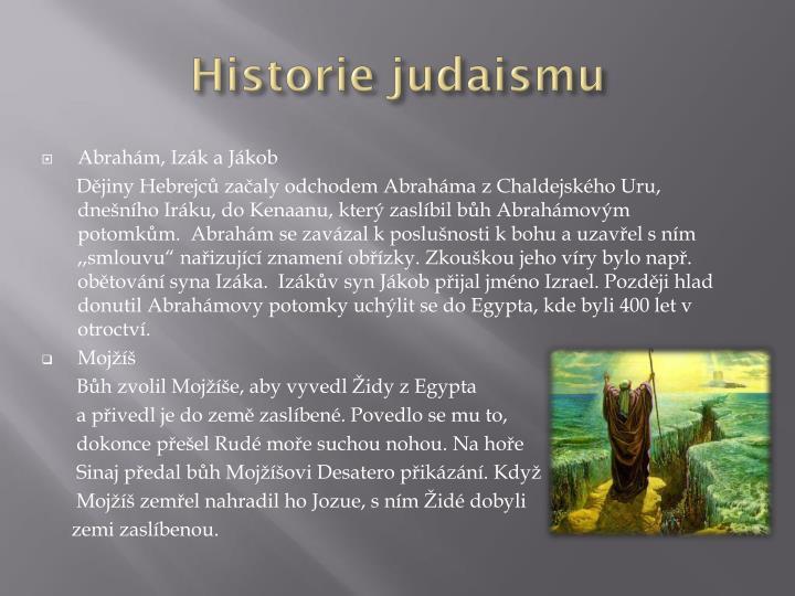 Historie judaismu