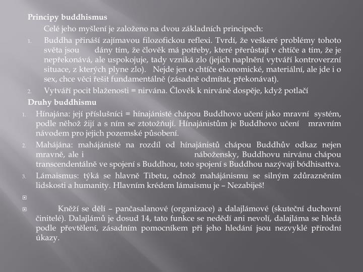 Principy buddhismus
