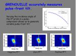 grenouille accurately measures pulse front tilt