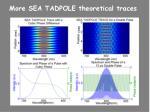 more sea tadpole theoretical traces