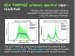 sea tadpole achieves spectral super resolution