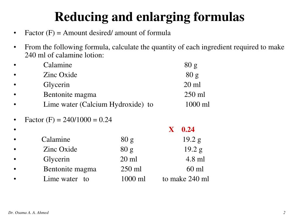 PPT - Reducing and enlarging formulas PowerPoint Presentation - ID