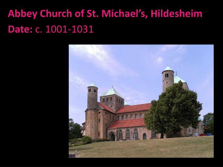 Abbey Church of St. Michael's, Hildesheim