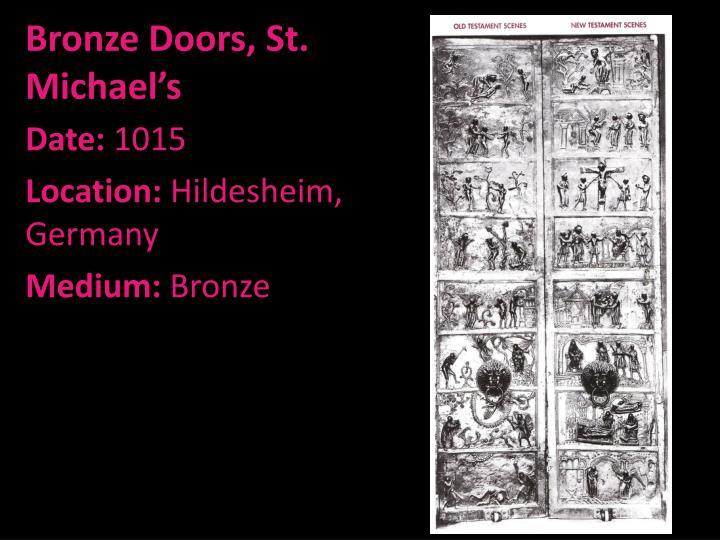 Bronze Doors, St. Michael's