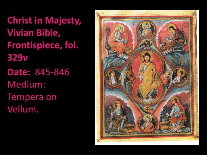 Christ in Majesty, Vivian Bible, Frontispiece, fol. 329v