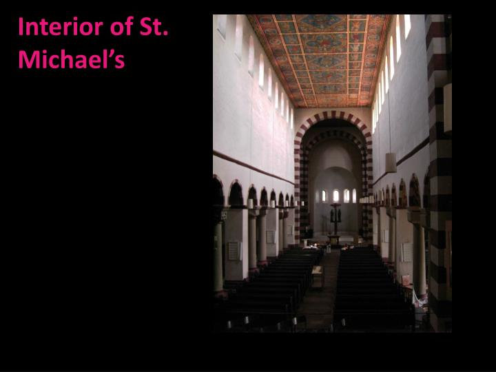Interior of St. Michael's