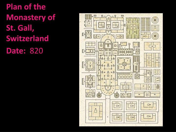 Plan of the Monastery of St. Gall, Switzerland