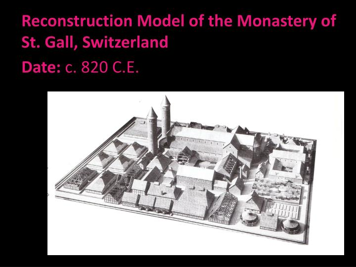 Reconstruction Model of the Monastery of St. Gall, Switzerland