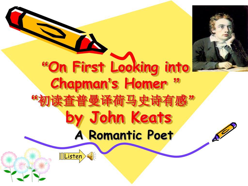 keats homer