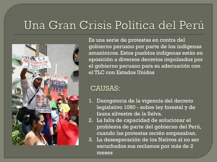 Una Gran Crisis Política del Perú