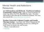 mental health and addictions resources
