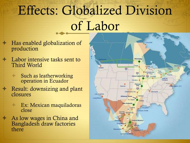 Effects: Globalized Division of Labor