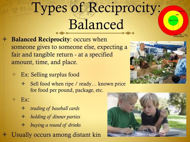 Types of Reciprocity: Balanced