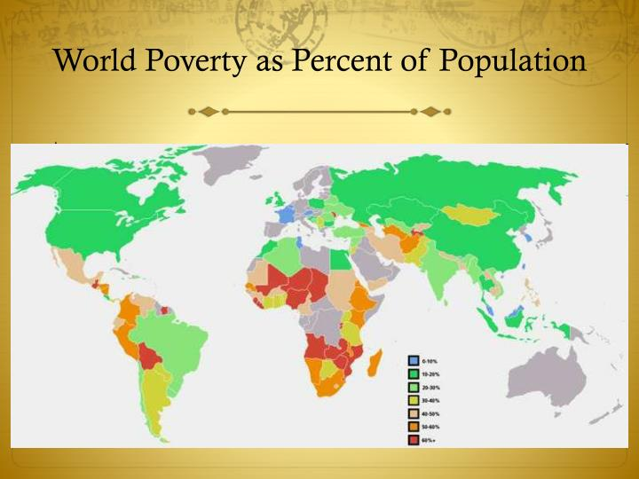 World Poverty as Percent of Population