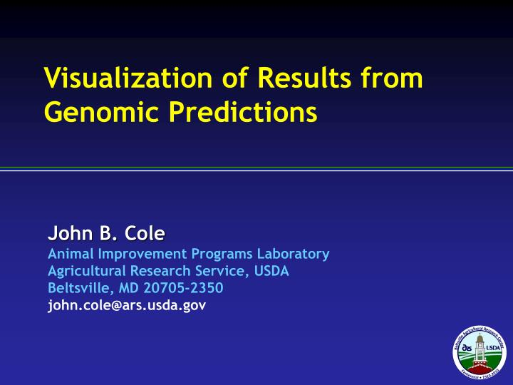 visualization of results from genomic predictions n.